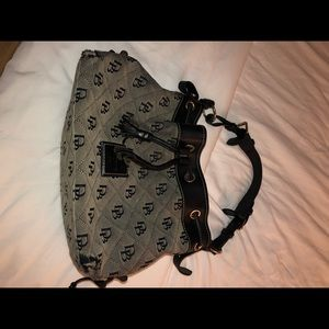 Dooley and bourke logo canvas Shoulder Bag Black